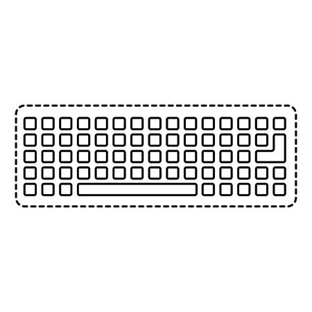키보드 장치 디지털 장비 상위보기 벡터 일러스트 레이션 스톡 콘텐츠 - 89974127