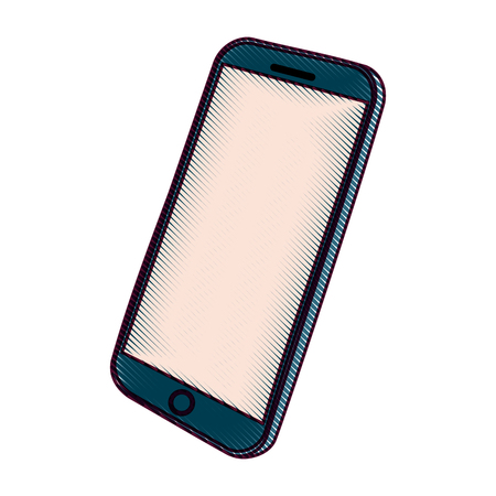 Mobile phone gadget technology touch screen vector illustration