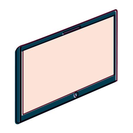 空白の画面のベクトル図とデバイスのタブレット技術ガジェット  イラスト・ベクター素材