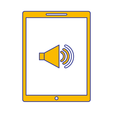 device technology tablet computer sound volume button vector illustration Фото со стока - 89979003