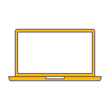 laptop device gadget screen technology vector illustration Illustration
