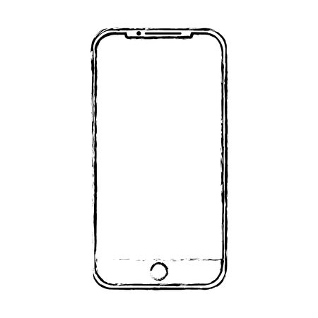 mobile phone gadget technology touch screen vector illustration Illusztráció