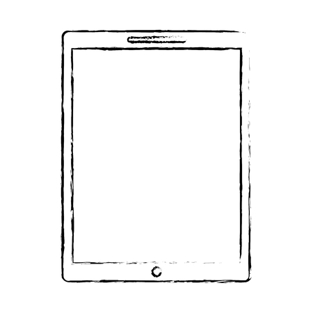 device technology tablet computer gadget vector illustration