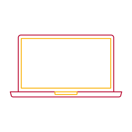 Laptop device gadget screen technology illustration
