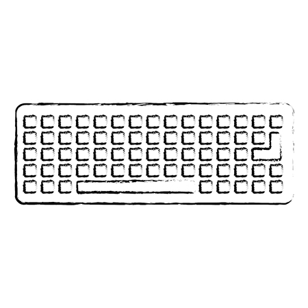 keyboard device digital equipment top view vector illustration