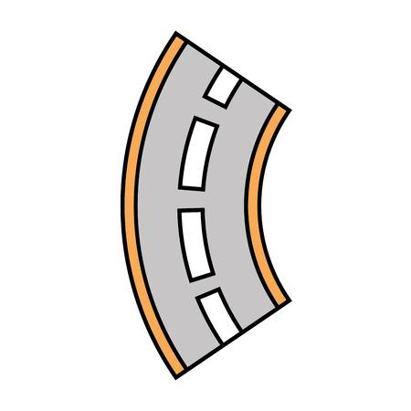 도로 구불 구불 한 거리 탐색 요소 그림