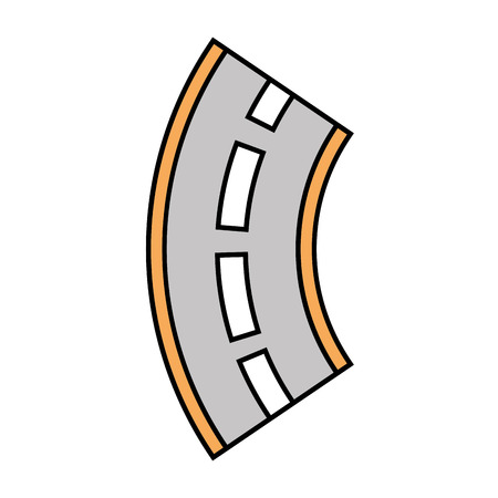 Road winding street navigation element illustration