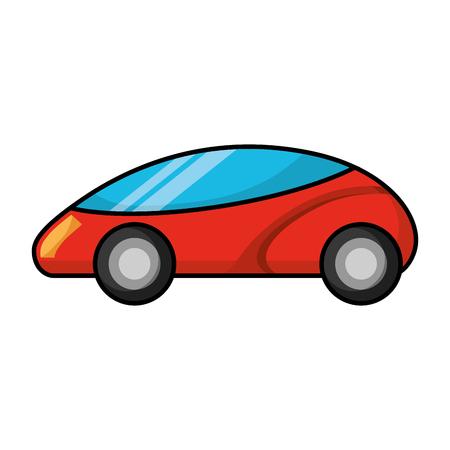 Smart car autonomous self driving technology illustration