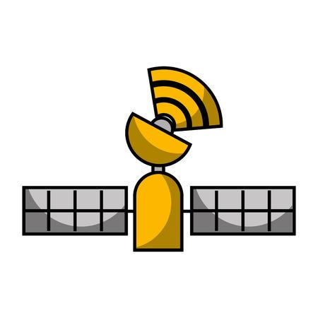 Illustration de la technologie sans fil de suivi par satellite Banque d'images - 89971068