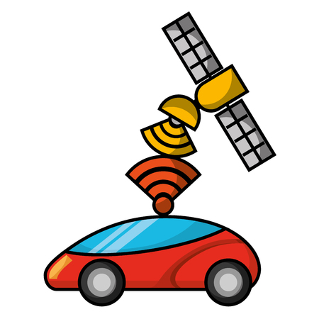 gps ナビゲーション衛星を助ける車先信号