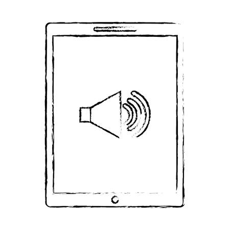 device technology tablet computer sound volume button vector illustration 向量圖像