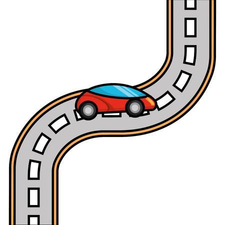 auto weg straat snelweg richting plan vectorillustratie