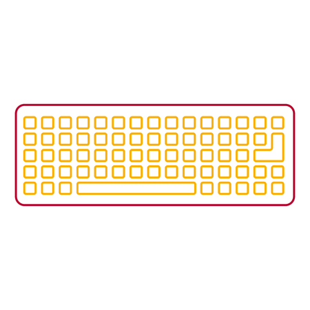keyboard device digital equipment top view vector illustration