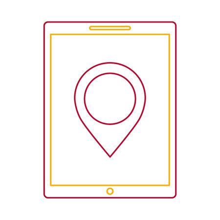 device technology tablet computer pin map navigation vector illustration