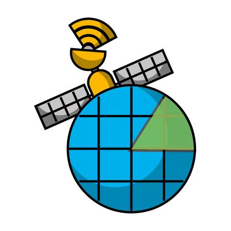 gps ナビゲーション画面のポインター マップ衛星接続ベクトル図