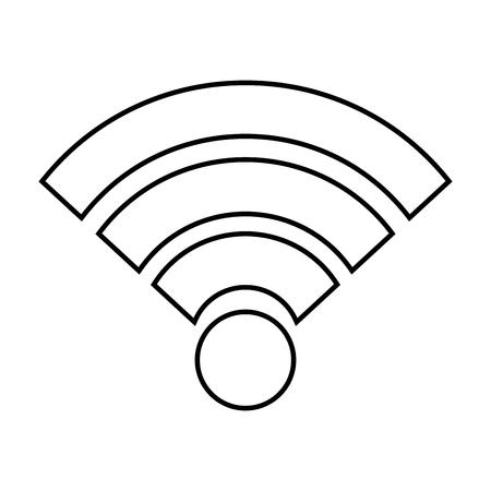 Het signaalgolf van WiFi Internet-verbinding, vectorillustratie.