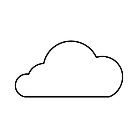 Cloud technology data storage information, vector illustration. 向量圖像