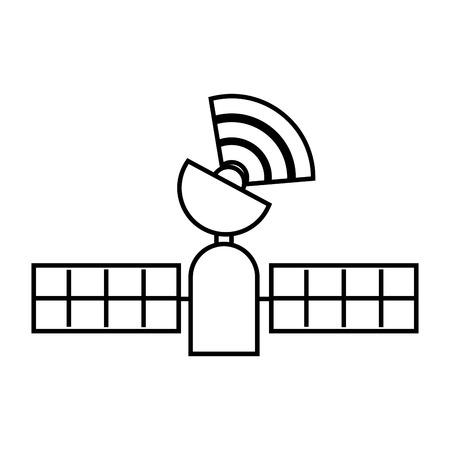 Technologie gps satellite suivi illustration vectorielle sans fil Banque d'images - 89979172