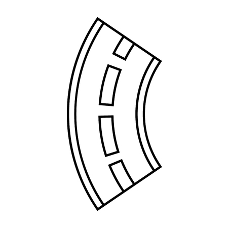 Road winding street navigation element, vector illustration.
