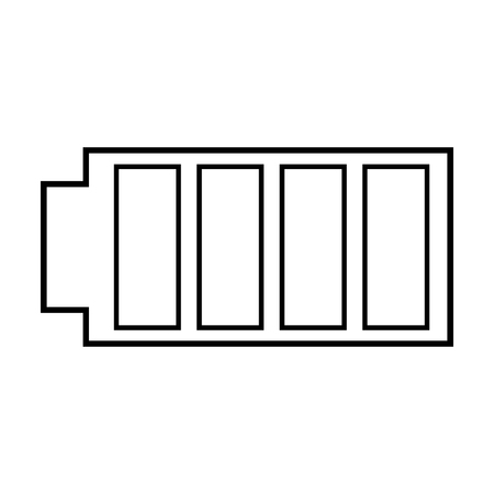 Battery icon with full power charged electric, vector illustration. Illustration