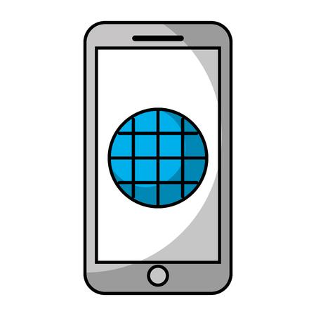 스마트 폰 GPS 네비게이션 화면 빈 애플 리케이션 벡터 일러스트 레이션