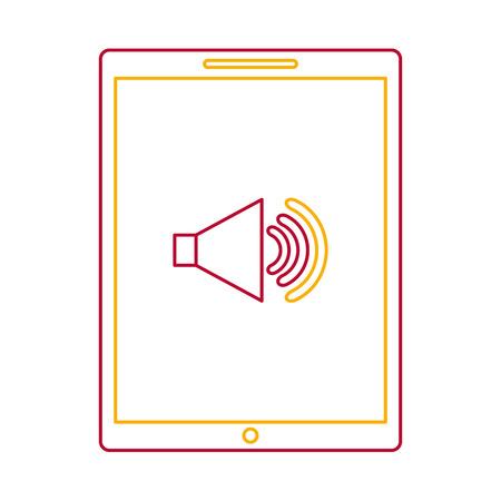 Device technology tablet computer sound volume button vector illustration Иллюстрация