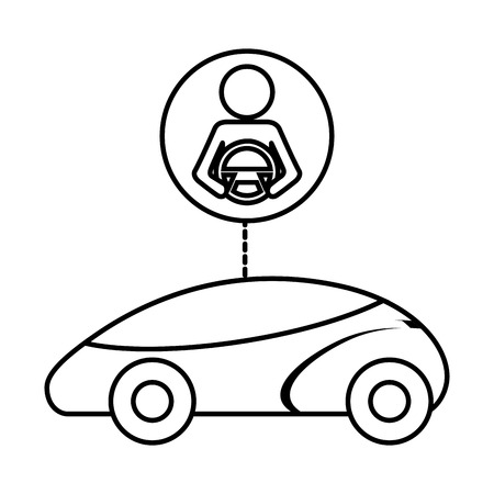 slimme of intelligente auto autonome futuristische technologie vectorillustratie Stock Illustratie