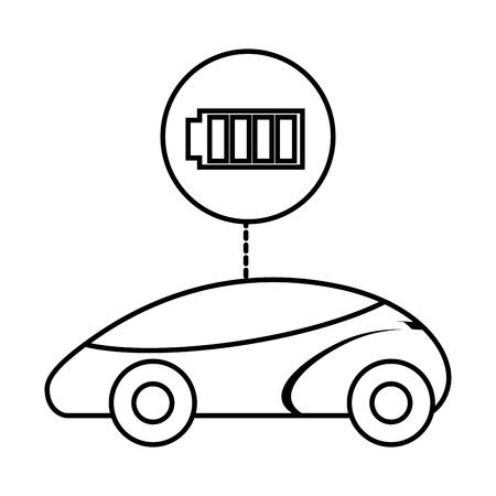 スマートまたは理性的な車のバッテリー充電器技術ベクトル図