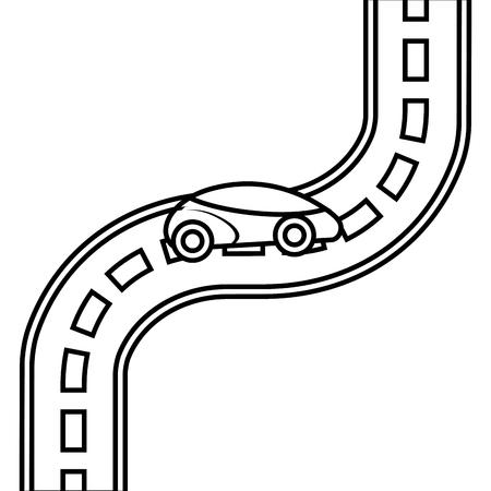 자동차 도로 거리 고속도로 방향 계획 벡터 일러스트 레이션 일러스트