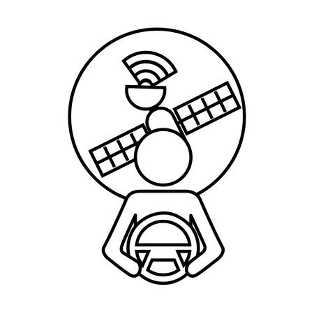 Driver alla volante di filatura illustrazione vettoriale di giunzione Archivio Fotografico - 89979835
