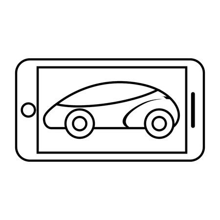 Smartphone gps navigation vehicle smart vector illustration Ilustração