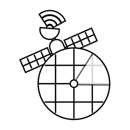 Gps navigation screen pointer map satellite connection vector illustration