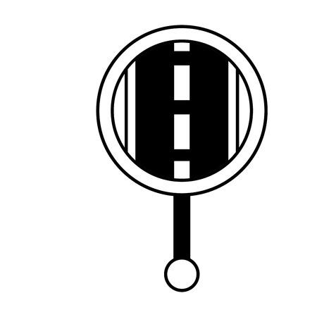 gps navigation pointer map street road icon vector illustration