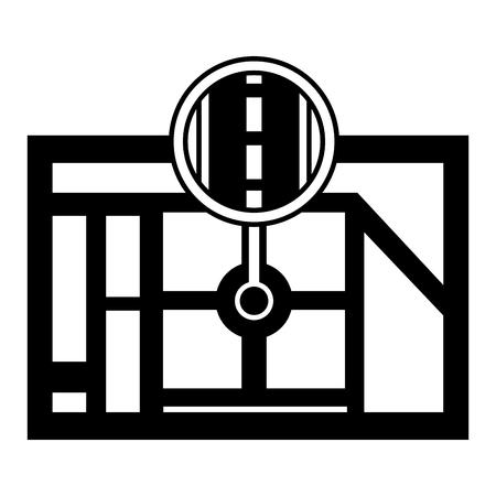 Gps ナビゲーション マップ先ポインター道路道路のベクター イラスト