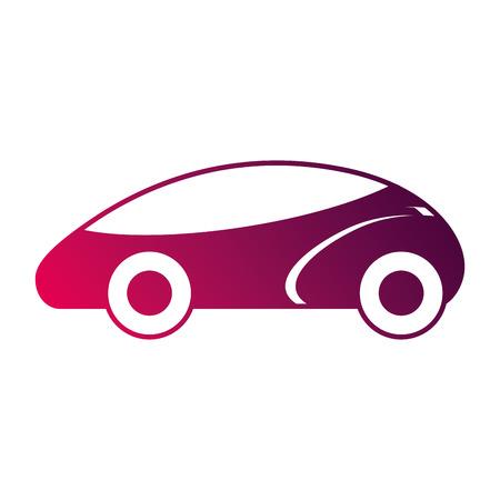 スマートな車自律自己運転技術のベクトル図