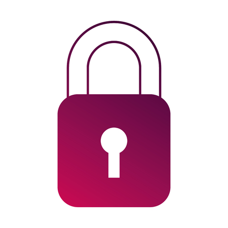 Security data information technology padlock button vector illustration