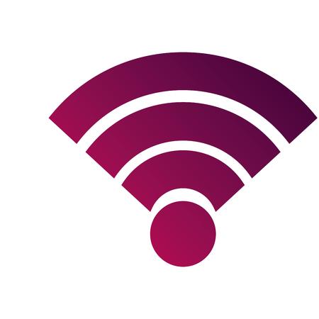 Draadloze internet verbinding signaal golf vectorillustratie Stockfoto - 89970711
