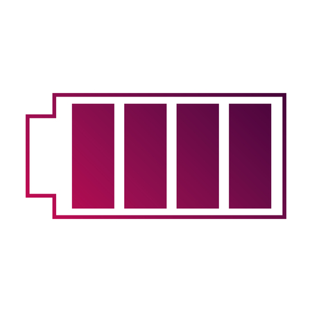 Icône de la batterie avec illustration vectorielle électrique chargée à pleine puissance Banque d'images - 89970714