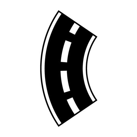 Weg kronkelende straat navigatie-element vector illustratie