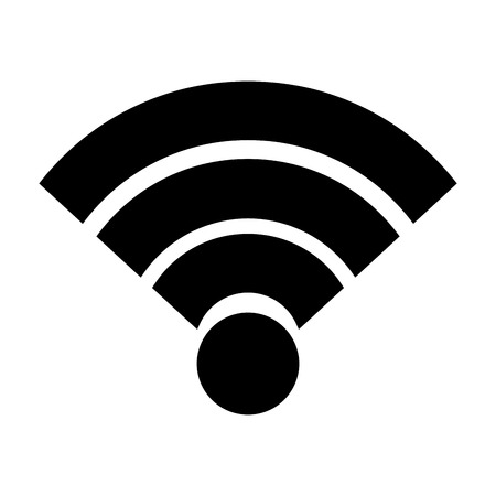 Wireless internet connection signal wave vector illustration 向量圖像