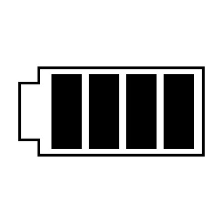 Battery icon with full power charged electric vector illustration 版權商用圖片 - 89980531