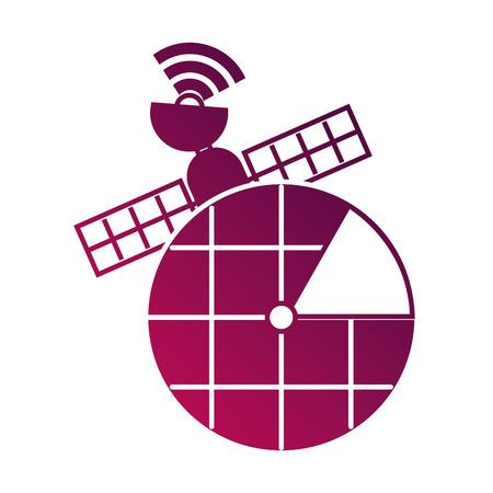 GPSナビゲーション画面ポインターマップ衛星接続ベクトルイラスト