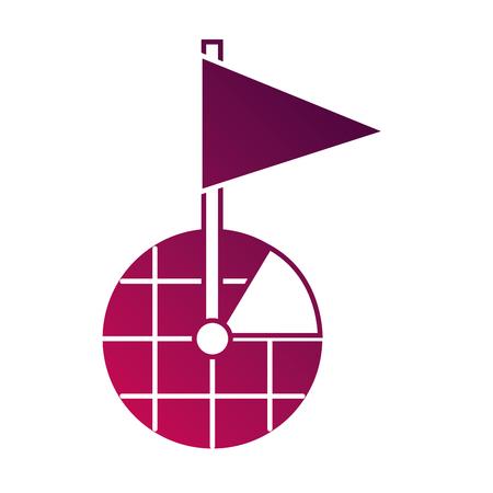 gps ナビゲーション画面ポインタマップフラグマーカーシンボルベクトルイラスト