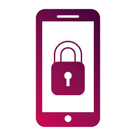 スマート フォン gps ナビゲーション セキュリティ アクセス アプリ ベクトル図