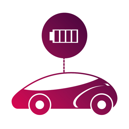 Smart or intelligent car battery charger technology vector illustration