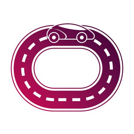 Autonomous car smart on the road navigation vector illustration Illustration