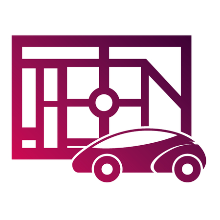 マップ ナビゲーション車自律 web アプリケーションのベクトル図