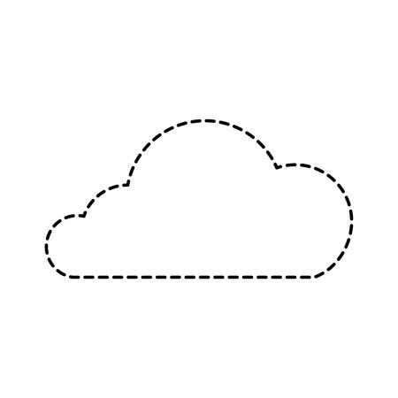 cloud technology data storage information vector illustration Stock Photo