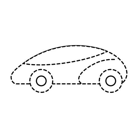 smart car autonomous self driving technology vector illustration Banco de Imagens