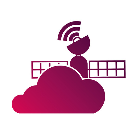 gps navigation cloud satellite connection vector illustration Stok Fotoğraf - 89975587